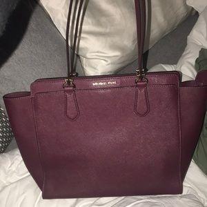 Barely used maroon Michael Kors purse